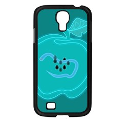 Xray Worms Fruit Apples Blue Samsung Galaxy S4 I9500/ I9505 Case (Black)