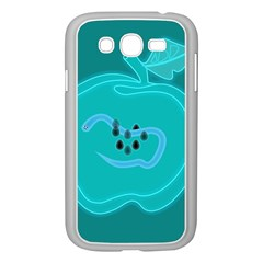 Xray Worms Fruit Apples Blue Samsung Galaxy Grand DUOS I9082 Case (White)
