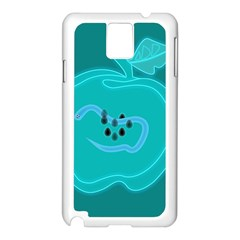 Xray Worms Fruit Apples Blue Samsung Galaxy Note 3 N9005 Case (White)