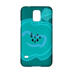 Xray Worms Fruit Apples Blue Samsung Galaxy S5 Hardshell Case