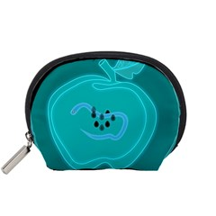 Xray Worms Fruit Apples Blue Accessory Pouches (Small)