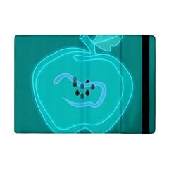 Xray Worms Fruit Apples Blue iPad Mini 2 Flip Cases