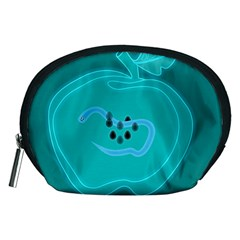 Xray Worms Fruit Apples Blue Accessory Pouches (Medium)
