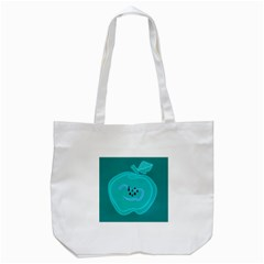 Xray Worms Fruit Apples Blue Tote Bag (White)