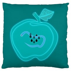 Xray Worms Fruit Apples Blue Standard Flano Cushion Case (Two Sides)