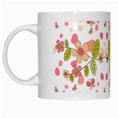Floral pattern White Mugs