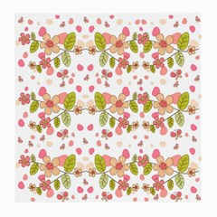 Floral pattern Medium Glasses Cloth (2-Side)
