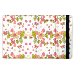 Floral pattern Apple iPad 2 Flip Case