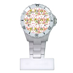 Floral pattern Plastic Nurses Watch