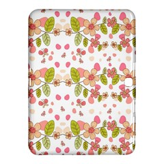 Floral pattern Samsung Galaxy Tab 4 (10.1 ) Hardshell Case