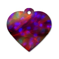 Vaccine Blur Red Dog Tag Heart (Two Sides)
