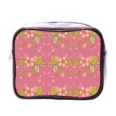 Floral pattern Mini Toiletries Bags