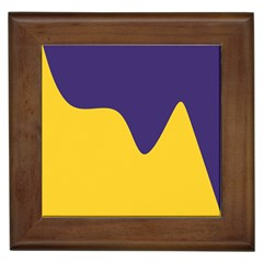 Purple Yellow Wave Framed Tiles