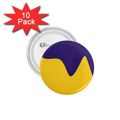Purple Yellow Wave 1.75  Buttons (10 pack)