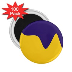 Purple Yellow Wave 2.25  Magnets (100 pack)