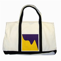 Purple Yellow Wave Two Tone Tote Bag