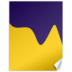 Purple Yellow Wave Canvas 18  X 24