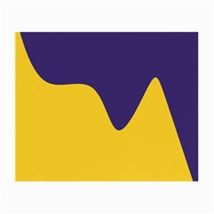 Purple Yellow Wave Small Glasses Cloth (2-Side)