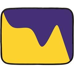 Purple Yellow Wave Fleece Blanket (Mini)
