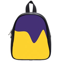Purple Yellow Wave School Bags (Small)