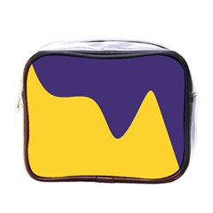 Purple Yellow Wave Mini Toiletries Bags