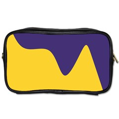 Purple Yellow Wave Toiletries Bags