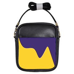 Purple Yellow Wave Girls Sling Bags