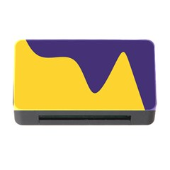 Purple Yellow Wave Memory Card Reader with CF