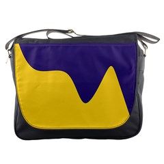 Purple Yellow Wave Messenger Bags