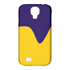 Purple Yellow Wave Samsung Galaxy S4 Classic Hardshell Case (pc+silicone)