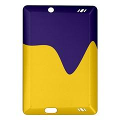 Purple Yellow Wave Amazon Kindle Fire HD (2013) Hardshell Case