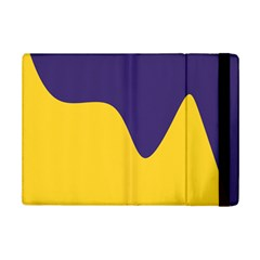Purple Yellow Wave iPad Mini 2 Flip Cases