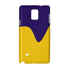 Purple Yellow Wave Samsung Galaxy Note 4 Hardshell Case