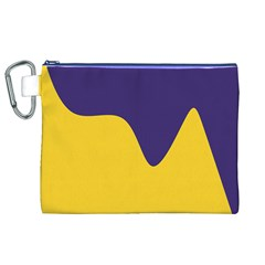 Purple Yellow Wave Canvas Cosmetic Bag (XL)