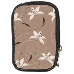 Star Flower Floral Grey Leaf Compact Camera Cases