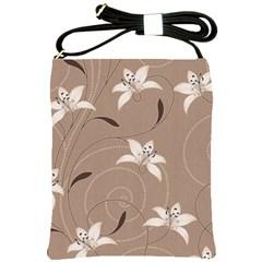 Star Flower Floral Grey Leaf Shoulder Sling Bags