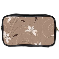 Star Flower Floral Grey Leaf Toiletries Bags 2-Side