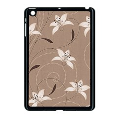 Star Flower Floral Grey Leaf Apple iPad Mini Case (Black)