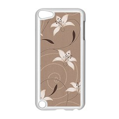 Star Flower Floral Grey Leaf Apple iPod Touch 5 Case (White)