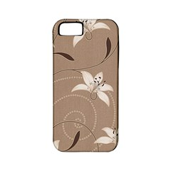 Star Flower Floral Grey Leaf Apple iPhone 5 Classic Hardshell Case (PC+Silicone)