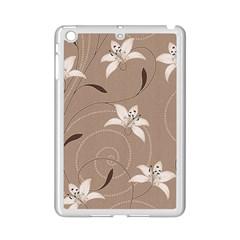 Star Flower Floral Grey Leaf iPad Mini 2 Enamel Coated Cases