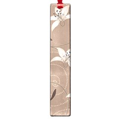 Star Flower Floral Grey Leaf Large Book Marks