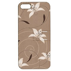 Star Flower Floral Grey Leaf Apple iPhone 5 Hardshell Case with Stand