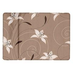 Star Flower Floral Grey Leaf Samsung Galaxy Tab 10.1  P7500 Flip Case
