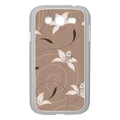 Star Flower Floral Grey Leaf Samsung Galaxy Grand DUOS I9082 Case (White)