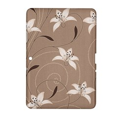 Star Flower Floral Grey Leaf Samsung Galaxy Tab 2 (10.1 ) P5100 Hardshell Case