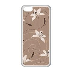 Star Flower Floral Grey Leaf Apple iPhone 5C Seamless Case (White)