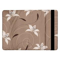 Star Flower Floral Grey Leaf Samsung Galaxy Tab Pro 12.2  Flip Case