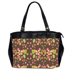 Floral pattern Office Handbags (2 Sides)