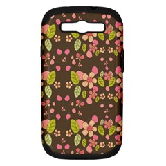 Floral pattern Samsung Galaxy S III Hardshell Case (PC+Silicone)